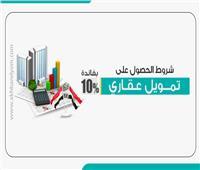 إنفوجراف | شروط الحصول على تمويل عقاري بفائدة 10%