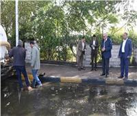 صور| محافظ الجيزة يقود حملة شفط مياه الأمطار من المحاور والطرق