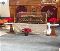 رفات القديسة تريزا يزور إكليريكية الأقباط الكاثوليك بالمعادي