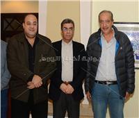 وصول ياسر رزق لمتابعة فعاليات كأس العالم للبلياردو