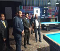 صور| وزير الشباب والرياضة يشهد الأدوار النهائية لمونديال البليارد بشرم الشيخ
