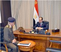 السيسي يلتقي وزير الدفاع والإنتاج الحربي بشرم الشيخ
