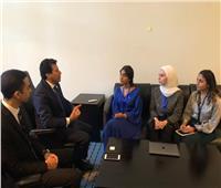 وزير الشباب والرياضة يلتقى وفد مركز الشباب العربي الإماراتي