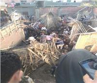 جهود مكثفة لانتشال جثتين من أنقاض سقف مضيفة مسجد بالبحيرة