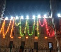 صور  الحسين يتزين بالأضواء استعدادا للاحتفال بمولده