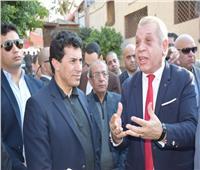 وزير الشباب والرياضة يقوم بزيارة مفاجئة لمركز شباب منوف