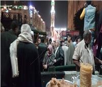 استمرار توافد أتباع الصوفية للمشاركة في الليلة الختامية لمولد الحسين