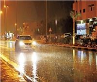 سقوط أمطار غزيرة على القاهرة