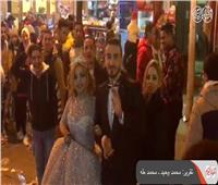 فيديو| «وسط البلد» تستقبل أول عروسين في 2020