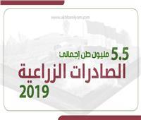 إنفوجراف| ٥.٥ مليون طن إجمالي الصادرات الزراعية ٢٠١٩