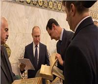 رفقة «الأسد».. بوتين يزور الجامع الأموي في دمشق و«ضريح النبي يحيى»