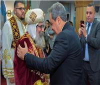 الأنبا أباكير يتراس قداس العيد بالسويد