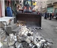 تحرير47 محضر إشغال بمركز بني مزار في المنيا