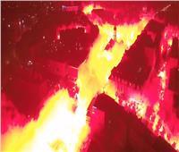 فيديو| مشجعو نادي بولندي يحتفلون بإحراق المدينة !!