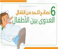 إنفوجراف| 6 نصائح للحد من انتقال العدوى بين الأطفال