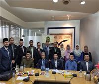 مسئولو التعليم العالي والشؤون الدينية بماليزيا في زيارة لفرع خريجي الأزهر