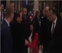 خاص| لحظة وصول الرئيس السيسي مقر إقامته بلندن.. فيديو