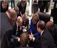 «متحدث الرئاسة» ينشر صورًا لمشاورات الرئيس مع الرؤساء المشاركين في قمة برلين
