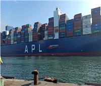 ميناء غرب بورسعيد يستقبل أكبر سفينة للحاويات بحمولة ١٦٩ ألف طن