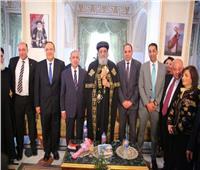 البابا تواضروس يستقبل رئيس الأكاديمية العربية للتهنئة بعيد الغطاس