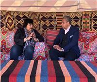 اليوم .. وزيرة الثقافة في ضيافة خيمة بدوية على شاشة سكاى نيوز عربية