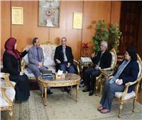رئيس جامعة المنوفية يستقبل مستشار وزارة التضامن الاجتماعي