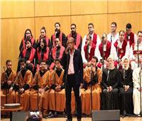 صور.. فرقة رسالة سلام الدولية تتألق على مسرح نقابة الصحفيين