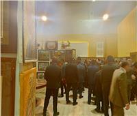 صور| رئيس الوزراء يتفقد جناح الأزهر الشريف