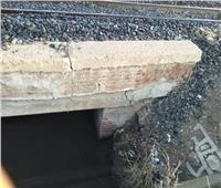 تهالك جسر السكة الحديد لقطار طنطا - زفتى