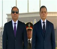 لحظة وصول الرئيس السيسي لأكاديمية الشرطة للاحتفال بعيدها الـ68