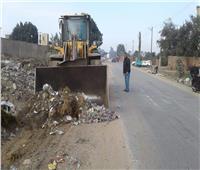 رفع 200 طن من مخلفات الهدم والقمامة في قويسنا