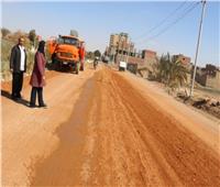 بدء رصف طريق «الدير المحرق» بأسيوط إحدى محطات مسار رحلة العائلة المقدسة