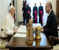 البابا فرنسيس يلتقي الرئيس العراقي