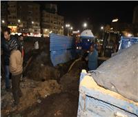 محافظ سوهاج يتابع إصلاح كسر خط مياه 18 بوصة بميدان الثقافة