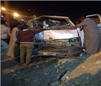 بالأسماء..إصابة 12شخصًا في حادث مروري بطريق قنا - نجع حمادي الصحراوي