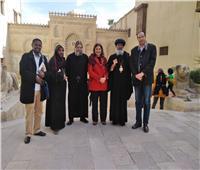 وفد كنسي من الحبشة يزور المتحف القبطي بالقاهرة