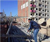 محافظة سوهاج: إيقاف 8 حالات بناء مخالف في حي شرق
