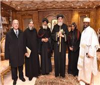 البابا تواضروس يستقبل وفدًا من الكنيسة الإثيوبية