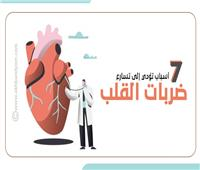 إنفوجراف| 7 أسباب تؤدي إلى تسارع ضربات القلب