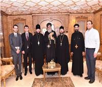 البابا تواضروسيستقبل نائب رئيس العلاقات الخارجية بالكنيسة الروسية