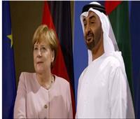 ولي عهد أبوظبي والمستشارة الألمانية يبحثان الأزمة الليبية