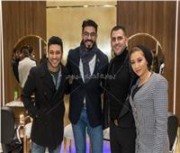 صور| حمادة هلال وخالد سليم يجتمعان في حفل هشام ربيع