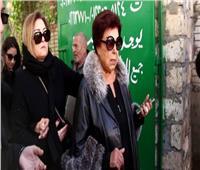 فيديو وصور   نجوم الفن في عزاء الفنانة الراحلة نادية لطفي