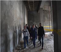 محافظ المنيا يتفقد مشروع إنشاء المتحف الآتوني
