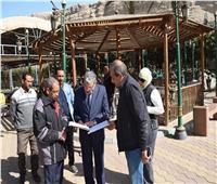 محافظ المنيا يتفقد حديقة 25 يناير لبحث تطويرها والاستفادة منها