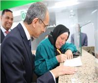 وزير الاتصالات يفتتح مكتبي بريد جديلة وطلخا بعد تطويرهما| صور