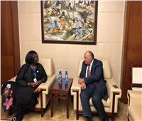 سامح شكري يلتقي وزيرة الخارجية الكينية الجديدة