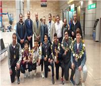 وفد من وزارة الشباب والرياضة في استقبال بعثة منتخب مصر للمصارعة