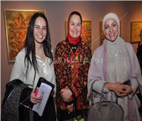 صور  افتتاح معرض الفنانة ثريا رفعت بحضور الإعلامية دعاء فاروق