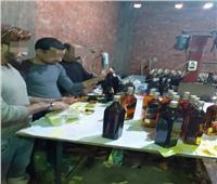 مباحث القاهرة تضبط مصنع لإنتاج الخمور المغشوشة بالمرج